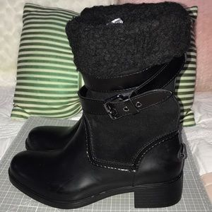 COACH BLANK SUEDE BOOTS SIZE 7 / 37